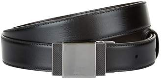 Dunhill Saffiano Leather Belt With Enamel Buckle