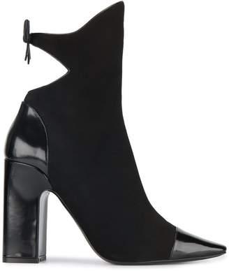 Fabrizio Viti Black Suede bow 110 boots