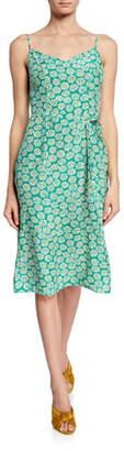 HVN Lily Floral-Print Slip Dress