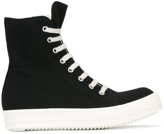 Rick Owens DRKSHDW zip detail sneakers $710 thestylecure.com