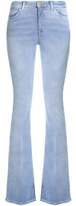 MiH Jeans Faded Mid-Rise Flared Jeans