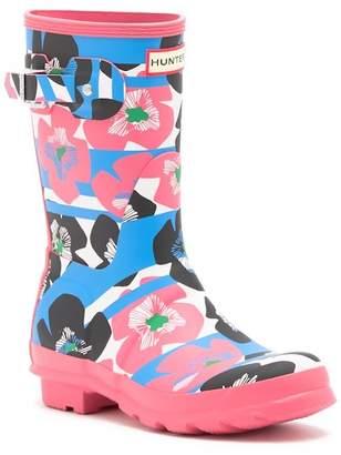 Hunter Floral Stripe Short Rain Boot