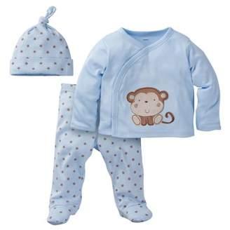Gerber Newborn Baby Boy Take-Me-Home Outfit Set, 3-Piece