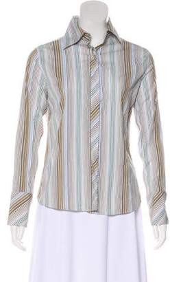 Burberry Long Sleeve Striped Blouse