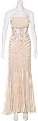 Sue Wong Strapless Evening Dress