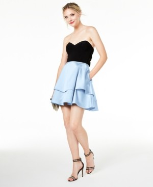 Blondie Nites Juniors' Double-Skirt Dress