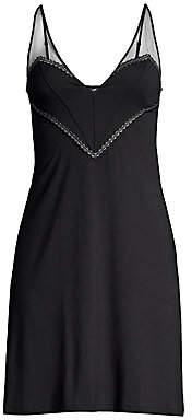 La Perla Women's Short Sheer Strap Pintuck Night Gown