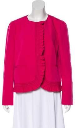 RED Valentino Ruffle Trim Jacket