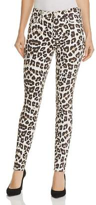 Mother High-Waist Looker Ankle Fray Leopard Skinny Jeans in Touch of the Tundra - 100% Exclusive