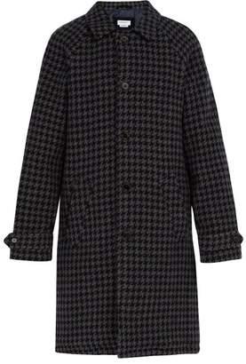 Presidents' - Houndstooth Wool Overcoat - Mens - Navy Multi