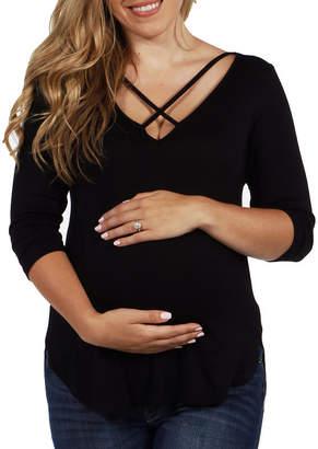 24/7 Comfort Apparel Vivian Maternity Top