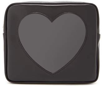 Forever 21 Faux Leather Heart-Insert Makeup Bag
