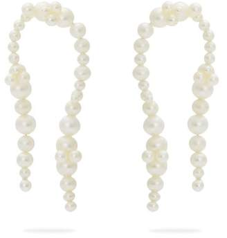 Completedworks - Firmament Gold Vermeil & Pearl Earrings - Womens - Pearl