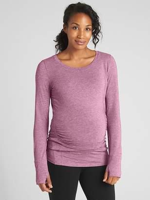 Gap Maternity GapFit Breathe Long Sleeve Crewneck T-Shirt