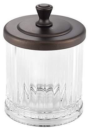 InterDesign Alston Bathroom Vanity Jar – Storage Canister for Cotton Balls