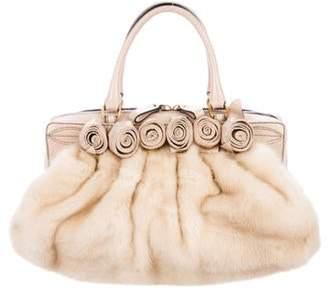 Valentino Snakeskin Rosette Bag gold Snakeskin Rosette Bag
