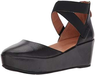 3832c666830 Gentle Souls by Kenneth Cole Women s NYSSA PLATFORM WEDGE WITH ELASTIC  ANKLE STRAPS Shoe