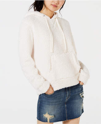 Hippie Rose Juniors' Faux-Sherpa Pullover Hoodie