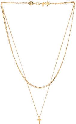 Vanessa Mooney Simple Layered Chain Cross Necklace