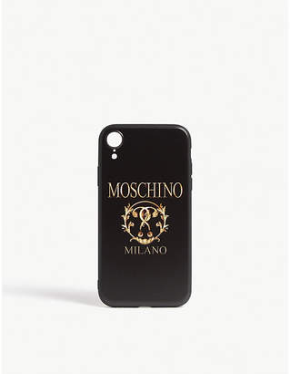 Moschino Double question mark logo iPhone XR case