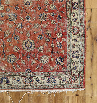 Rejuvenation Hand-Knotted Turkish Rug w/ Faded Red Field