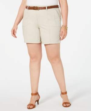 Style&Co. Style & Co Plus Size Belted Shorts, Created for Macy's