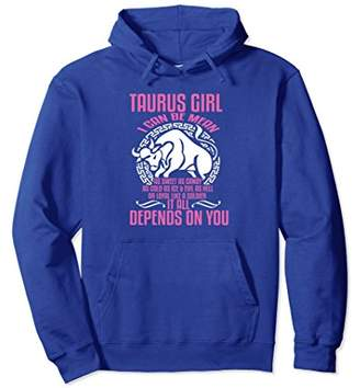 Taurus Girl Depends On You Zodiac Birthday Hoodie