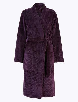 M&S CollectionMarks and Spencer Textured Kimono Dressing Gown