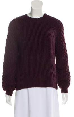 J Brand Wool Blend Cable Knit Sweater