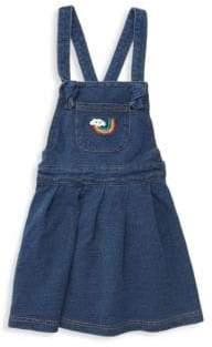 Little Girl's Denim Flare Pinafore Dress