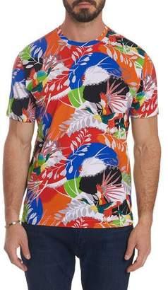 Robert Graham Men's Flying Crane Tropical T-Shirt