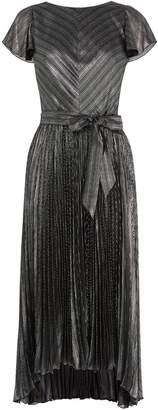 Next Womens Karen Millen Silver Linear Metallic Dress