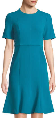 Donna Morgan Exposed Zip Crepe Sheath Dress