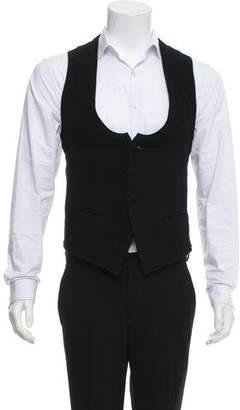 Robert Geller Woven Herringbone Vest