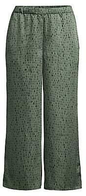 Eileen Fisher Women's Silk & Organic Cotton Wide-Leg Jacquard Trousers