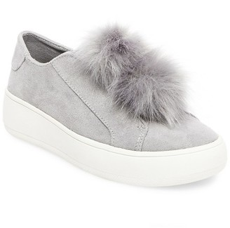 Mossimo Supply Co. Women's Rosemary Faux Fur Pom Slip On Sneakers $29.99 thestylecure.com
