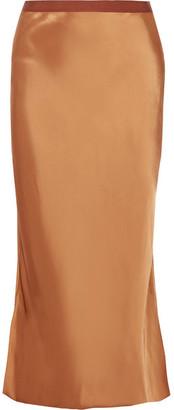 Helmut Lang - Satin Midi Skirt - Copper $415 thestylecure.com