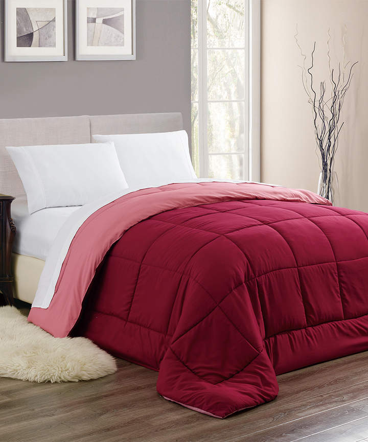 Burgundy Chelsea Reversible Down-Alternative Comforter