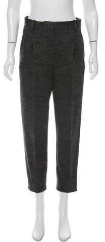 Celine Céline Wool Cropped Pants