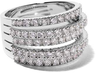 De Beers 18kt white gold Five Line diamond ring