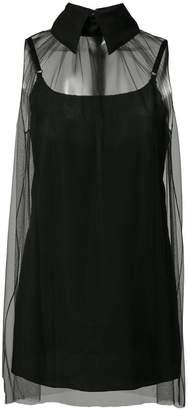 Vera Wang sheer sleeveless top