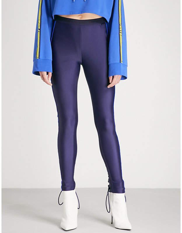 side-strip jersey leggings
