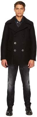 DSQUARED2 Peacoat w/ Puffer Back Men's Coat