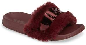 MICHAEL Michael Kors Jett Faux Fur Slide Sandal