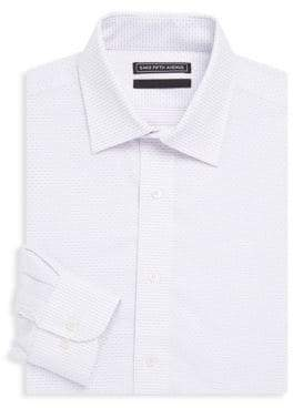 Saks Fifth Avenue Printed Cotton Dress Shirt