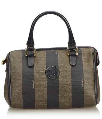 31c004543c7c at Orchard Mile · Fendi Vintage Pequin Mini Boston Bag