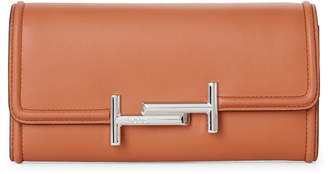 Tod's Double T Leather Crossbody Wallet