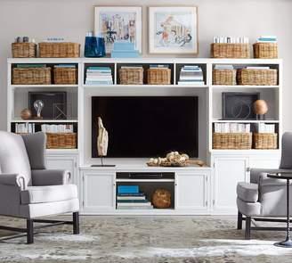 Pottery Barn Logan Media Suite with Cabinet Doors, Bookcases & Bridge