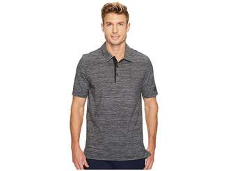 adidas Gradient Heather Jersey Polo Men's Short Sleeve Pullover