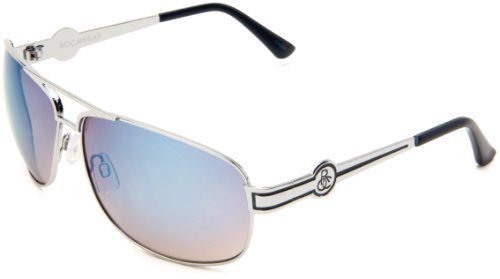 Rocawear Men's R1169 SLVBL Rimless Sunglasses